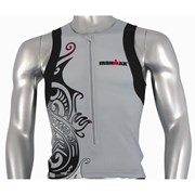 Ironman Activewear Ironman Mens Tri Top - Silver/Black