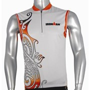Ironman Activewear Ironman Sleeveless Unisex Cycle Jersey - Silver/Red