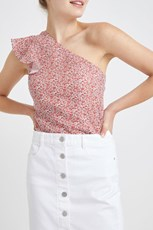 Sportscraft Chamomile Liberty Top White/Red