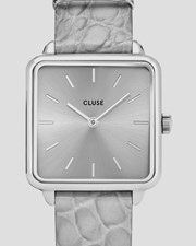 Cluse Watches Cluse La Tetragone Leather Grey