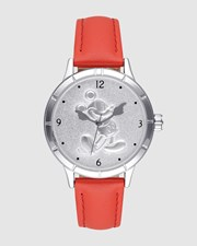 Disney Mickey Sculpted Dial Red Watch Red