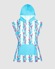 Dock & Bay Poncho Mini 100% Recycled Jungle Collection Flamingo Fever