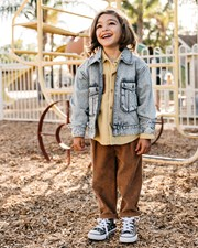 Goldie + Ace Cord Mini Chinos - Kids Camel