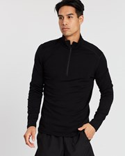 Icebreaker 260 Tech LS Half Zip Black