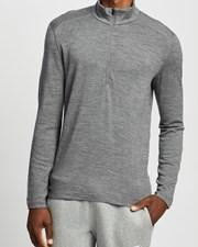 Icebreaker 260 Tech LS Half Zip Gritstone Heather