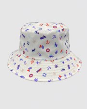 Jacaru Jacaru 1866 Kids Nautical Bucket Hat Blue