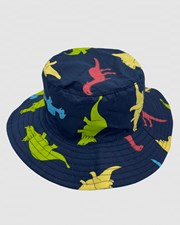 Jacaru Jacaru 1875 Kids Dinosaur Bucket Hat Blue