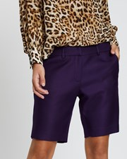 Lindsay Nicholas New York Long Miny Shorts Blackberry