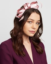 Max Alexander Satin Bow Fascinator Dusty Pink