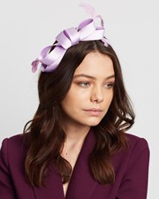 Max Alexander Satin Bow Fascinator Lilac