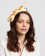 Max Alexander Satin Bow Fascinator Yellow
