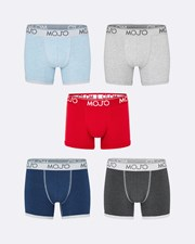 Mojo Varsity Trunk 5 Pack Deep Blue / Sea Foam Blue / Slate / Concrete / Red