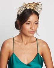 Morgan & Taylor Abigail Fascinator Gold