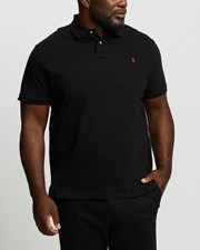 Ralph Lauren Polo Ralph Lauren Custom Slim Fit Mesh Polo Black