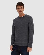 SABA Samuel Crew Neck Knit Charcoal