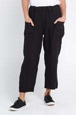 Wednesday Lulu Jennie Linen Pants - Black