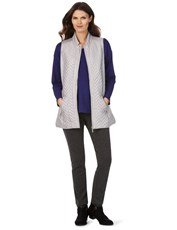 W.LANE LONGERLINE QUILTED VEST SILVER