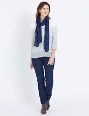 W.LANE TEXTURED SCARF FRENCH NAVY