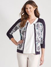 W.Lane Chain Print Cardigan MULTI