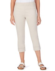 W.Lane Embellished Crop Pant SAND