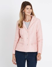W.Lane Quilted Zip Jacket PALE PINK