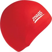 Zoggs Silicone Swimming Cap Red