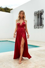 Shareen Girl On Fire Maxi Dress (Ruby)