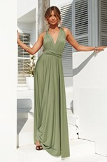 Angel Biba The Perfect Date Multiway Maxi Dress (Khaki)